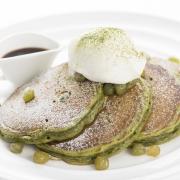 「 サラベス ルミネ新宿店」限定商品、和のテイストを取り入れた新作パンケーキ「抹茶とうぐいす豆パンケーキ」を11月17日発売。