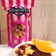 トランス脂肪酸ゼロ天然ココナッツオイル使用の「横浜ポップコーンランド」、ショコラオレンジなど新フレーバー3種を発売。