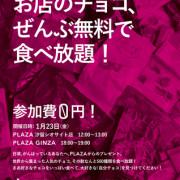 約2,000種類のチョコが無料で食べ放題、『PLAZA』GINZA・汐留シオサイトで1日限定イベント開催。
