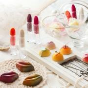 リップスティック、唇などコスメのようなバレンタインショコラが京都センチュリーホテルから期間限定販売。