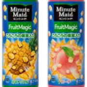 角切りフルーツ入りの食べるフルーツ飲料「ミニッツメイド フルーツマジック」6/15発売開始。