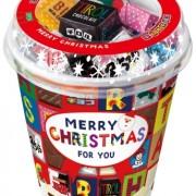「みるくもち」など6種入りのチロルチョコ「クリスマスカップ」11/2発売。