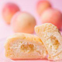 八天堂「冷やして食べるくりーむパン」に、高級白桃を使用した新味「清水白桃」が登場。