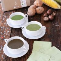 お茶の香り豊かな新感覚の和風ポタージュ「ポチャージュ」静岡茶など3種が新発売。