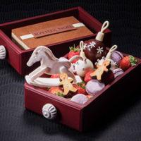 まるでお菓子の宝箱、食べられる引き出し型ボックスのXmasケーキがホテル阪急に初登場。