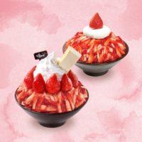 生のイチゴがたっぷりのった季節限定かき氷、韓国発カフェ「ソルビン」で2種発売。