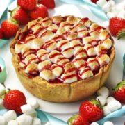 パブロ、ホワイトデー向けに甘酸っぱいいちごと焼きマシュマロが華やかなチーズタルトを2週間限定発売。