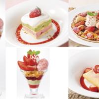 デニーズ、とちおとめを使ったショートケーキやクレープアイスなど苺デザート5品を新発売。