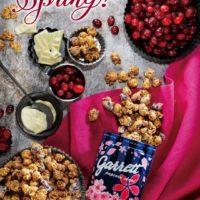 ギャレットポップコーン、ホワイトチョコとクランベリーの日本限定フレーバーとSAKURA缶を発売。