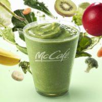 マックカフェ、1食分の野菜がとれる「グリーンスムージー」レギュラーメニューに新登場。