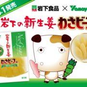 """今度は""""わさビーフ味""""の「岩下の新生姜」が登場。山芳製菓と岩下食品のコラボ商品第二弾。"""