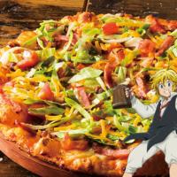 シェーキーズ「七つの大罪」とコラボ、作品の世界をテーマにした4種のピザを提供。
