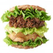 """【糖質制限】モスバーガーに肉を肉で挟んだハンバーガーが登場。パンもライスもない""""肉×3""""ざんまい。"""