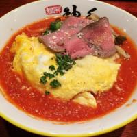 """【ラーメン】新店「麺昇神の手」の""""オムラーメン""""が女性に人気。個性的な創作ラーメンに注目あつまる。"""