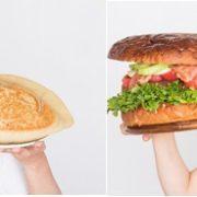 最強にフォトジェニックな新サービス、約2kgの『メガバーガー』と約1kgの『メガ餃子』開始。