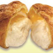 """くら寿司""""シャリコーラ""""が「シュークリーム」に。米麹由来の自然な甘さとなめらかな口どけがポイント。"""