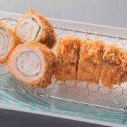 """とんかつ「さぼてん」昭和49年の大人気メニューを復刻販売。大海老の""""海鮮巻きかつ""""一部で先行販売。"""