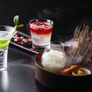 琵琶湖ホテル、光源氏のモデルの恋歌など百人一首の世界を表現したオリジナル和カクテル3種を期間限定提供。