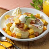 """ふわふわパンケーキにゴロッとマンゴーが絶妙、北海道""""ルタオ""""カフェ「ドレモルタオ」の新作。"""