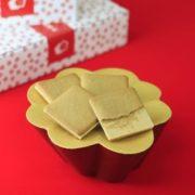 """笛吹の華、山梨の銘菓""""桔梗信玄餅""""をイメージした洋菓子「桔梗信玄ビスキュイ」を発売開始。"""