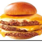 ロッテリア、今月の肉の日キャンペーンは絶品パティ三枚重ねの「肉がっつりトリプル絶品チーズバーガー」。