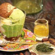 秋抹茶を使った和風パフェ「ムース・オ・ショコラパフェ秋抹茶」をシャポン自由が丘店が季節限定で発売。