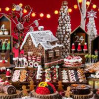 「ミニチュア・クリスマスマーケットの世界」を再現したデザートブッフェがヒルトン東京お台場に登場。