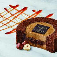 """累計670万食販売""""ゴディバ""""とローソンのコラボ第4弾「キャラメルショコラロールケーキ」発売。"""