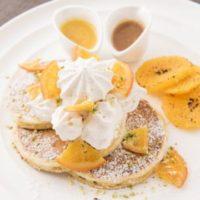 サラベス、ルミネ新宿店限定で「スノーウィ―オレンジパンケーキ」が登場。