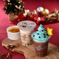 ムーミンスタンド、クリスマスツリーのような飲むスウィーツ「チョコミントクリーム」など期間限定で販売。