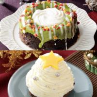 """ローソン、インスタジェニックな「一人サイズX'masケーキ」今年は""""白""""と""""緑""""。"""