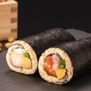 【糖質制限】大豆米で作った低糖質恵方巻きが登場、具材は贅沢なタラバガニ使用。