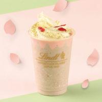 チョコブランド リンツ、「ホワイトチョコレート サクラ アイスドリンク」を期間限定で発売。