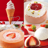 """【いちごシーズン開始】ローソン、あまおう苺のロールケーキなど""""いちご""""を使った7商品を発売。"""