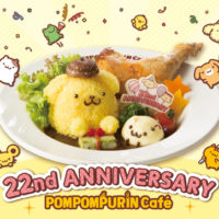 ポムポムプリンカフェ、誕生22周年のバースデーメニューが店舗限定で登場。