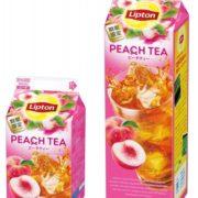 リプトン、ピーチ果汁が入ったフルーツティー「ピーチティー」が新発売。