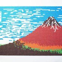 M&M'Sチョコでドット絵「赤富士」表現力が試される「たべるアート」キャンペーン開催。