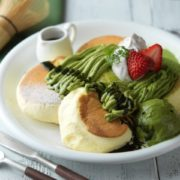 ドレモルタオ、厳選した抹茶を使った新作パンケーキ「抹茶モンブラン」を新発売。