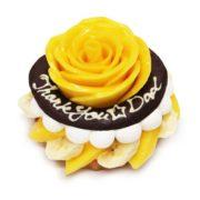 カフェコムサ 感謝の気持ちを込めたマンゴーのバラをあしらった「父の日」限定ケーキが登場