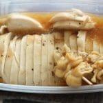 加熱後の鶏ハムは漬け汁と一緒に保存